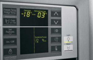 Side by Side Kühlschrank: die Temperatur einstellen